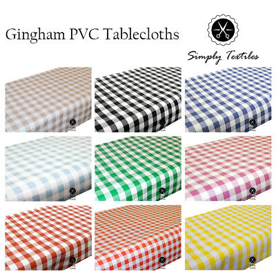 Gingham - Wipe Clean PVC Tablecloth Oilcloth Vinyl