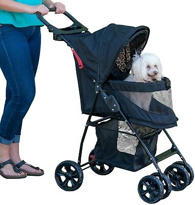 Pet Gear Happy Trails Lite No-Zip Pet Stroller Jaguar