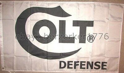 Colt Defense 3'x5' White Flag banner Pistol Revolver Rifle 1911 NRA USA seller