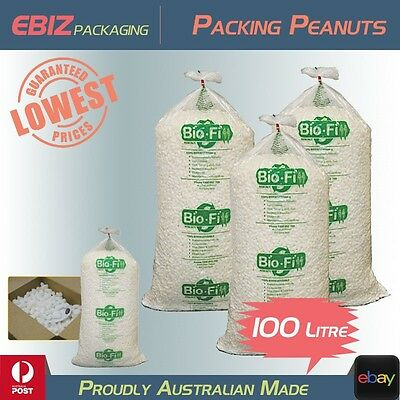 100L Void Fill Biofill Packing Peanuts Loose Foam Nuts Packaging Cushioning