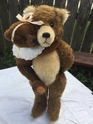 Thurston McMindes Hand Made Mohair Bear Set Gladstone & Sara OOAK Signed