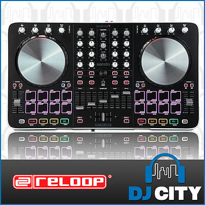 Reloop Beatmix4 Digital DJ MIDI Controller 4-Channel with SERATO DJ Software ...