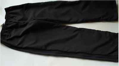 Black Full Zip -ice figure skating  training pant