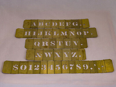 "Reese's Brass Stencils * Roman 1"" Letters & Numerals *  251 Pieces *"