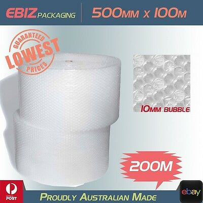 200 Meter Bubble Wrap 500mm x 100M Polycell 10mm Clear Air Package Wrapping Roll