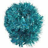 Turquoise Christmas Tinsel Tree Decoration Luxury 2m Long Garland Deluxe Chunky