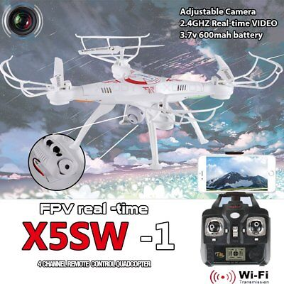 X5SW-1 Hover White Wifi FPV Camera Drone 2.4Ghz RTF 4CH RC with 0.3MP Quadcopter
