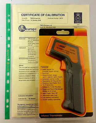 UKAS Calibrated Digital Handheld Infrared Thermometer - Professional Infared LAB