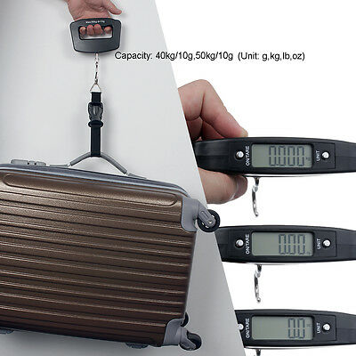 Quality Portable LCD Electronic Digital Hook Hanging Luggage Scale Weight 50kg