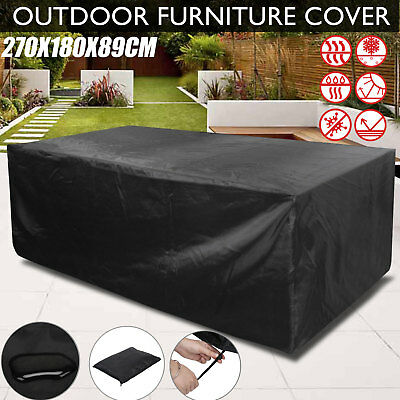 Patio Furniture Cover Outdoor 8 Seater Garden Table Rectangular Shelter 270cm