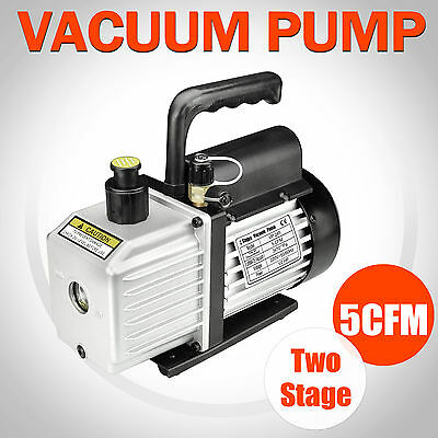 1/2HP 5CFM Two Stages Refrigeration Vacuum Pump Air Conditioning Condition New