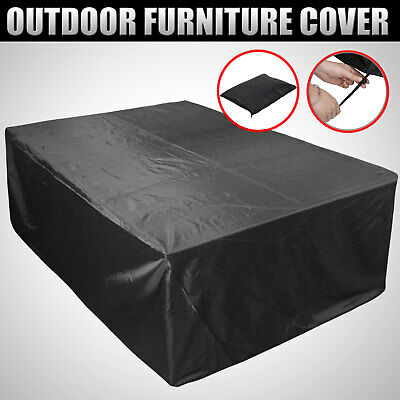 Outdoor Furniture Cover 8 Seater Rectangular Table Patio Shelter Protector
