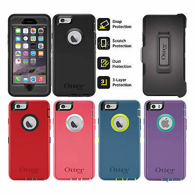 For iPhone 6 OtterBox Defender Case Cover Holster Rugged with Belt Clip Genuine