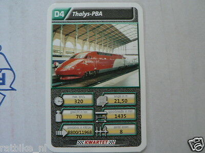 22 Super Train D4 Thalys Pba Trein Kwartet Kaart, Quartett Card