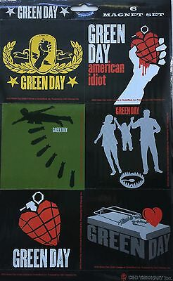 GREEN DAY Magnets Set Of 6 American Idiot Album  New Official Rock Merchandise