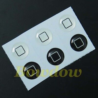 6 pcs New White Black Classic Home Button Sticker For Apple iPhone ipod iTouch