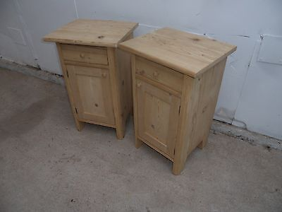A Stunning Small Pair of Antique Pine Bedside Cabinets to Paint/Wax