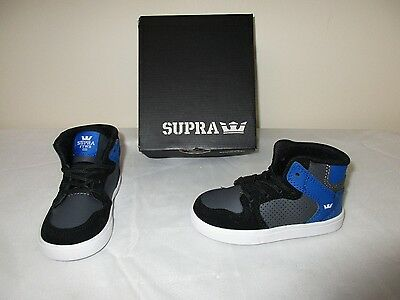 be41ba19b6 NEW Boy's Toddler's Supra Vaider High Top Sneaker Shoe S93000T  Black/Gry-Wht W38