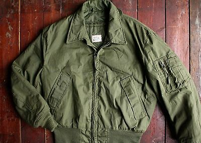 Vtg '80 Usgi Cold Weather High Temp Military Flyers Jacket Aramid Short Medium