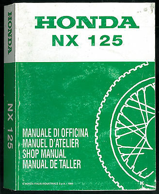 Revue d'Atelier HONDA NX 125 TRANSCITY -1989 à 1999 Manuel Technique Shop Manual