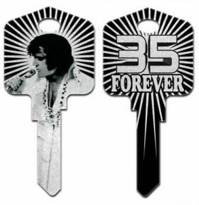 "ELVIS PRESLEY "" 35 FOREVER GLITTER "" HOUSE KEY KW-1 Kwikset GRACELAND THE KING"