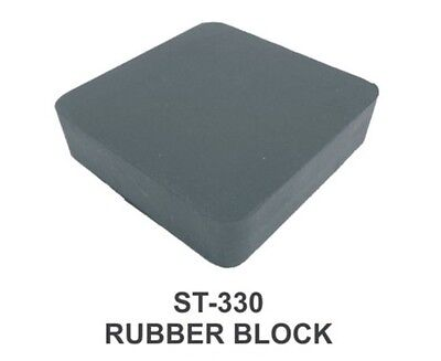 "PARUU® RUBBER BENCH BLOCK FOR JEWELLERS 4X4X1"" st330-4x4x1"