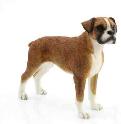 Boxer Standing Dog Ornaments Gift Figure Figurine By Leonardo Collection