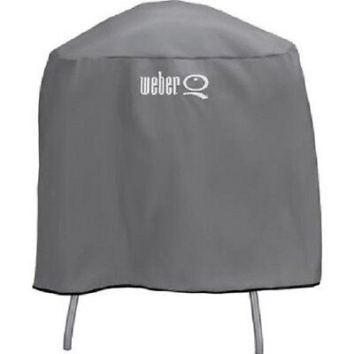 Weber Q Full Length Vinyl Cover For Q Series Grill on Cart or Stand 6556 New