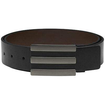 Adidas 3-Stripe Reversible Belt (Black/Brown One Size)