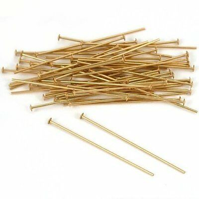 Forever Yung 35mm Gold Plated Head Pins for Jewelry Making¡ª