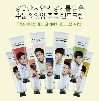 [Nature Republic] Exo Limited Edition Hand & Nature Hand Cream Set 30ml X 9ea