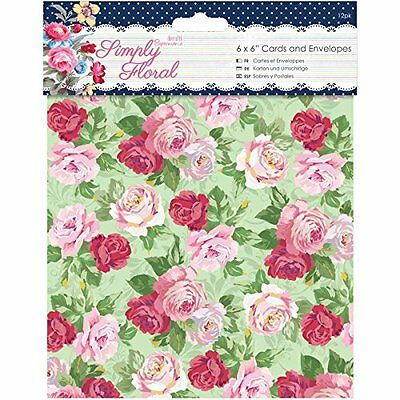 docrafts Papermania Simply Floral Cards with Envelopes, 6 by