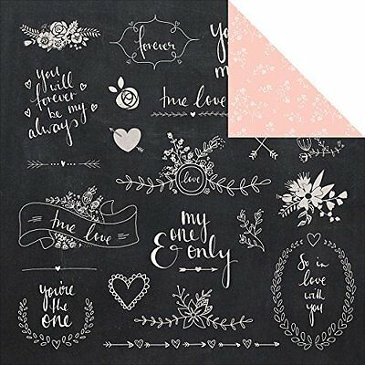 "Xo Double-Sided Cardstock 12""X12""-Ever After"