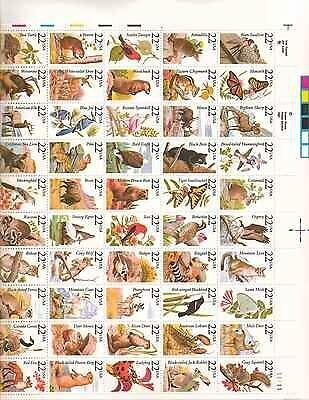 North American Wildlife Sheet of 50x22 Cent US Postage Stamps NEW Scot 2286