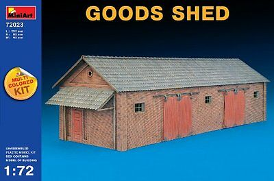 Miniart Kids Hobby Military Toy Goods Shed Scale: 1/72