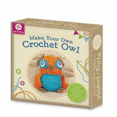 Make Your Own Crochet Owl Craft Kit Includes Wool & Hook