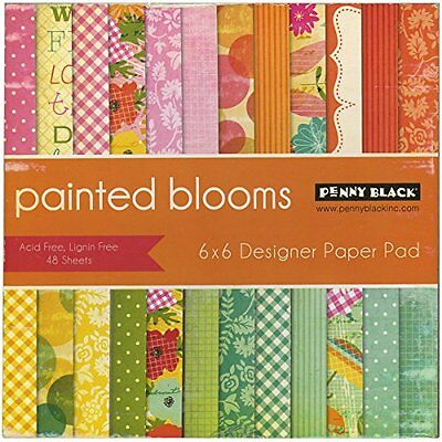"""Penny Black 80-009 Painted Blooms Paper Pad, 6 x 6"""""""