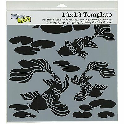 Crafters Workshop Koi Pond Crafter's Workshop Template, 12-I