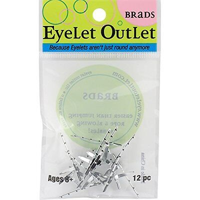 Eyelet Outlet Shape Brads-Fishing Pole 12/Pkg