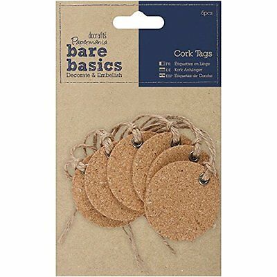 docrafts Papermania Bare Basics Cork Tags Circle