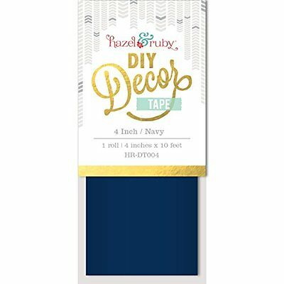"Hazel & Ruby Diy Decor Tape 4""X10'-Navy"