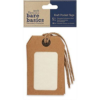 docrafts Papermania Bare Basics Cardstock Tags with Twine Na