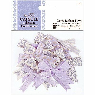docrafts Papermania French Lavender Ribbon Bows, Large