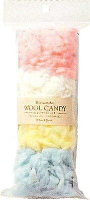 Hamanaka wool Candy Materials set / Fluffy wool color scan card 441-124-2