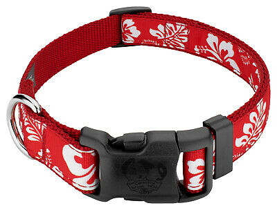 Country Brook Design® Deluxe Red Hawaiian Ribbon Dog Collar