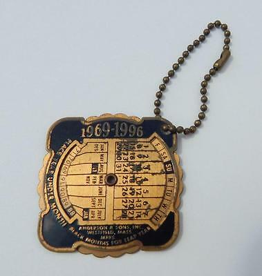 Vintage 1969-1996 Perpetual Calendar Mccabe Dry Goods Corp Keychain