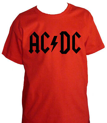 fm10 t-shirt child 3 AC/DC band rock hard & heavy print black or red MUSIC