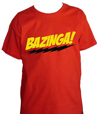 Fm10 T-Shirt Child 3 Bazinga Sheldon the Big Bang Theory Cinema&tv