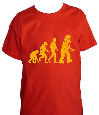 Fm10 T-Shirt Child / to Evolution Robot Big Bang Theory Sheldon Cinema&tv