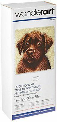Spinrite Wonderart Latch Hook Kit, 12 by 12-Inch, Chocolate Dog